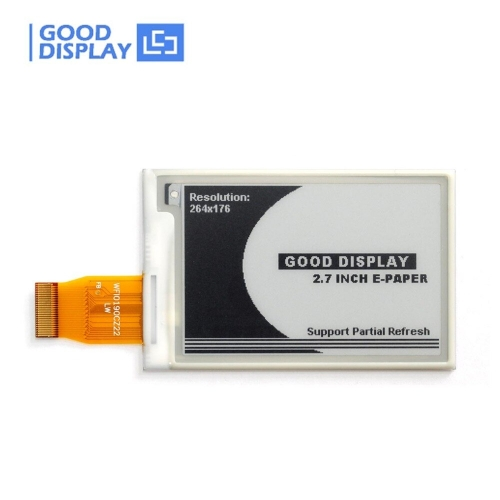 2.7 inch Black and white epaper display partial refresh 264x176 SPI e-ink screen