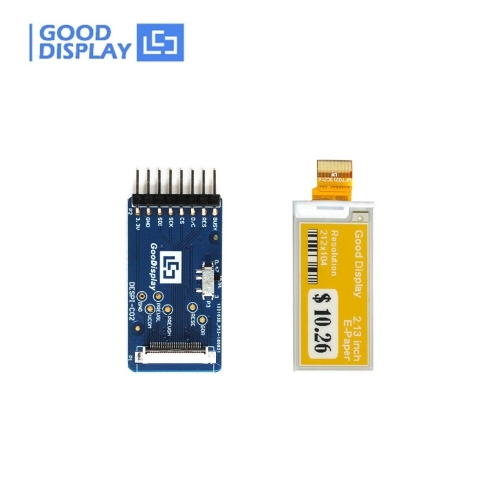 2.13 inch Three colors yellow eink e-paper display module with connector board