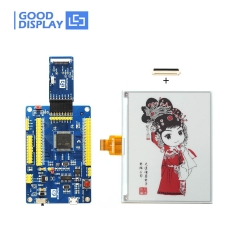 5.83 inch high resolution color red e-paper display Tri-color e-ink screen module with demo kit drive board