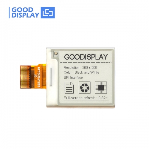 1.54 inch e-paper display high resolution 200x200 partial refresh fast speed GDEW0154M09