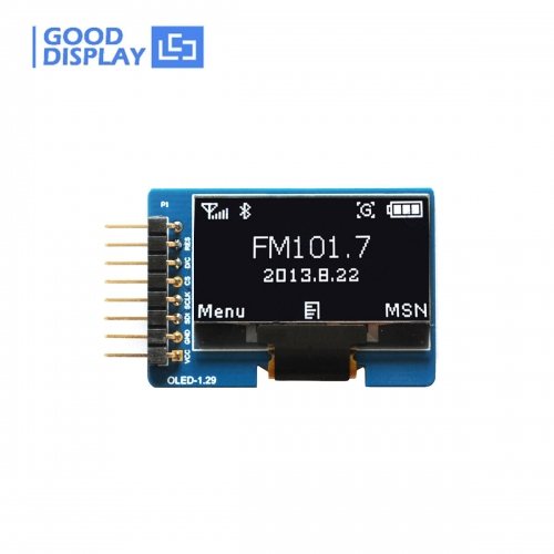 1.29 inch OLED display module with adapter board, wide temperature, GDMN0129WP30