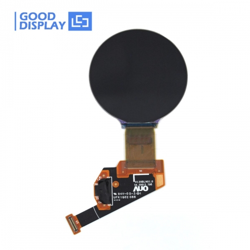 1.39 inch round OLED display panel, 16.7M color, 400x400 resolution, GDOR0140CP20
